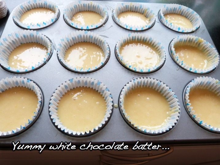 White Chocolate Cupcakes with Cookie Dough Frosting | Doctorate ...