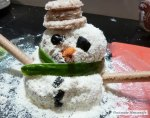 my cheese ball snow man