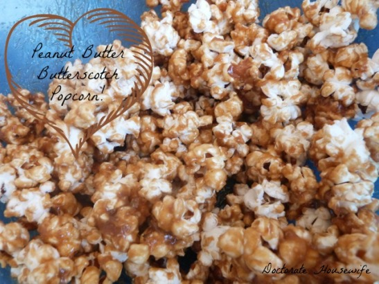 Peanut Butter Butterscotch Popcorn - Guest Post from The Doctorate Housewife - Cupcakes & Kale Chips