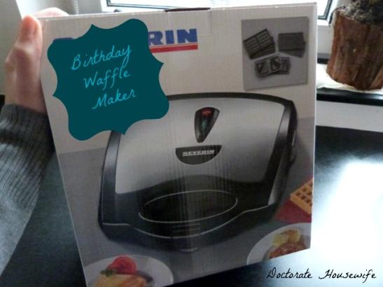 Birthday Waffle Maker