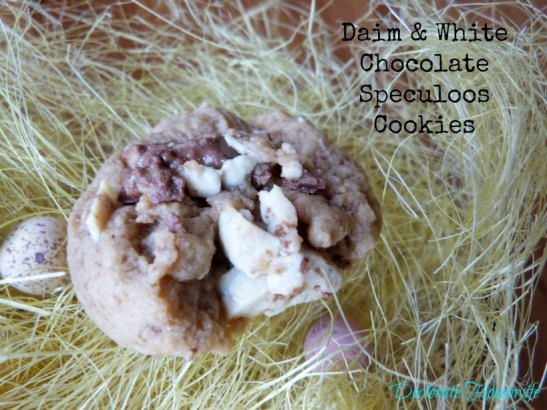 Daim & White Chocolate Speculoos Cookies