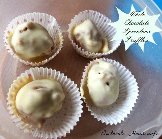 white chocolate speculoos truffles