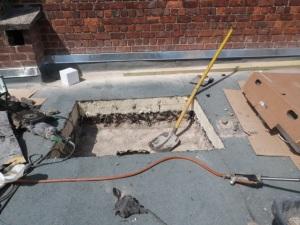 Digging a skylight...