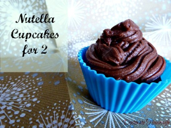 Nutella Cupcakes for 2 - finished product