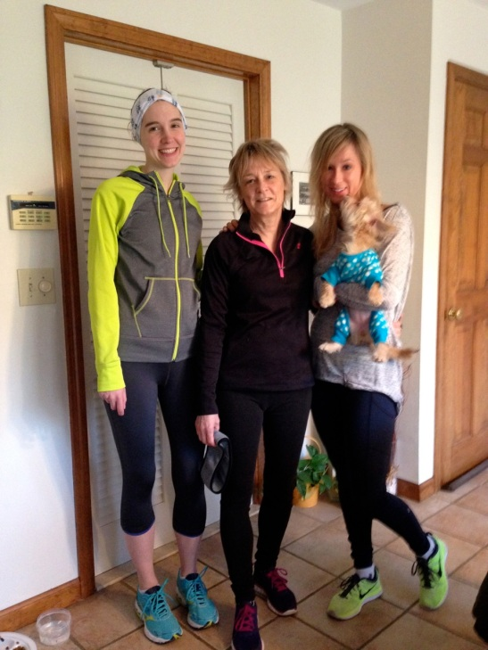 A 5k I did with my mom and sister at 13 weeks
